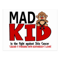 Mad Kid Skin Cancer Postcard
