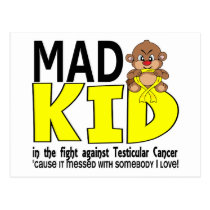 Mad Kid Testicular Cancer Postcard