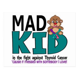 Mad Kid Thyroid Cancer Postcard