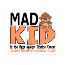Mad Kid Uterine Cancer Postcard