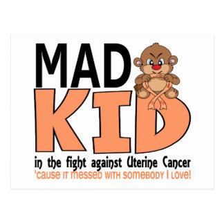 Mad Kid Uterine Cancer Postcard