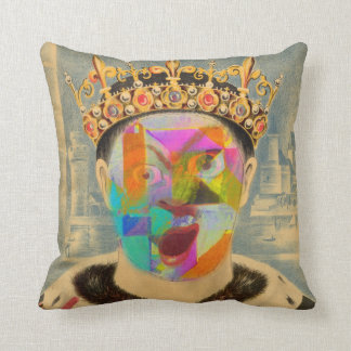 Mad King Throw Pillow