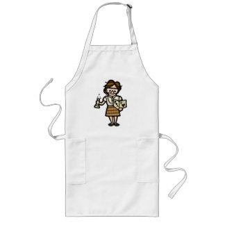 mad lab coat. long apron