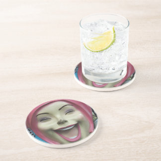 Mad Laughing Mannequin Drink Coaster