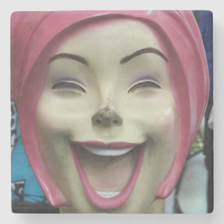 Mad Laughing Mannequin Stone Coaster
