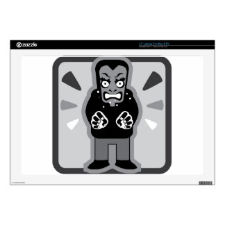 "Mad man icon 17"" laptop decal"