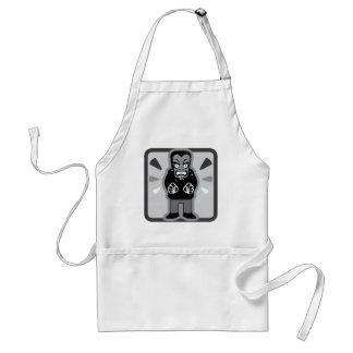 Mad man icon adult apron