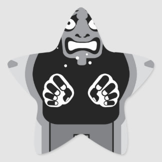 Mad man icon star sticker