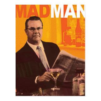 Mad Man Postecard Postcard