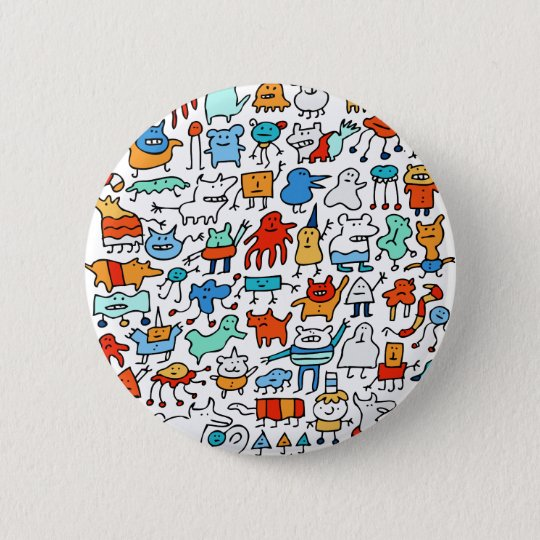 Mad Monster Friends Button