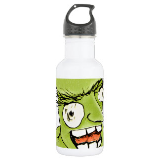 Mad Monster Man with Evil Expression 18oz Water Bottle