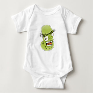 Mad Monster Man with Evil Expression Baby Bodysuit