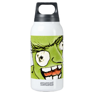 Mad Monster Man with Evil Expression Insulated Water Bottle