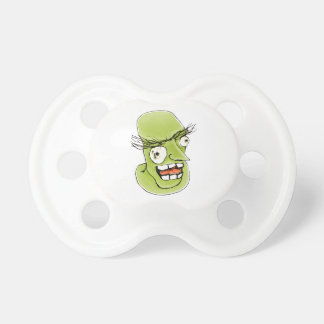 Mad Monster Man with Evil Expression Pacifier