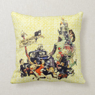 Mad Monster Party Throw Pillow
