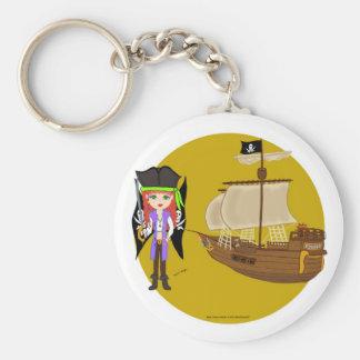 Mad Morgan & Ship Keychain