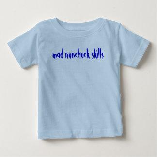 mad nunchuck skills baby T-Shirt
