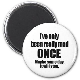 Mad Once 2 Inch Round Magnet