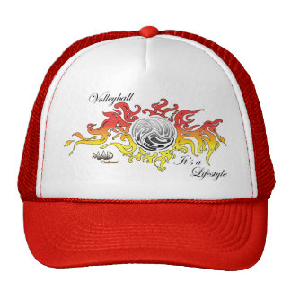 MAD Outfitters Volleyball Cap Hat Flames Ball
