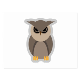 Mad Owl Postcard