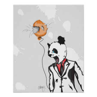 Mad Panda 16in x 20in Poster