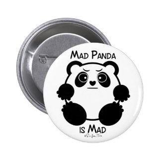 Mad Panda Pinback Button