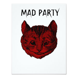 Mad Party Cheshire Cat Birthday Invites
