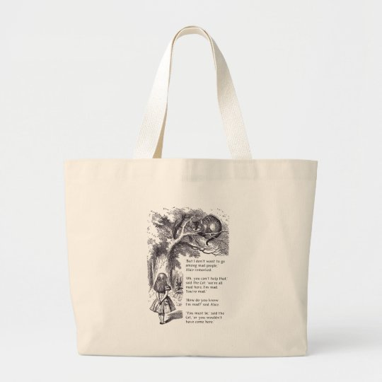 Mad People Large Tote Bag