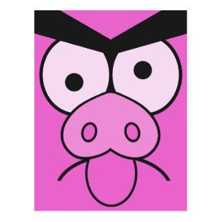 Mad Pig custom postcard