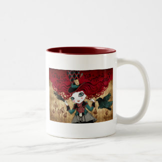 Mad Riddle Two-Tone Coffee Mug