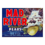 Mad River Pears - Vintage Fruit Crate Label