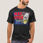 Mad River Pears - Vintage Fruit Crate Label T-Shirt