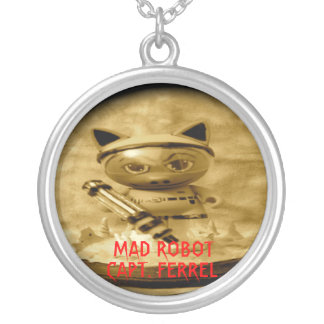 MAD ROBOT, CAPT. FERREL ROUND PENDANT NECKLACE