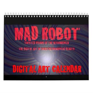 MAD ROBOT DIGITAL ART WALL CALENDARS
