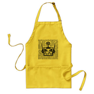Mad-Robot-Head Adult Apron