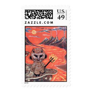 mad robot I'll dooker devil Postage Stamp
