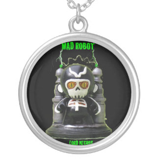 MAD ROBOT LORD NECROX 2 ROUND PENDANT NECKLACE