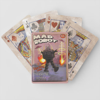 Mad Robot Pulp Cover Bicycle Playing Cards