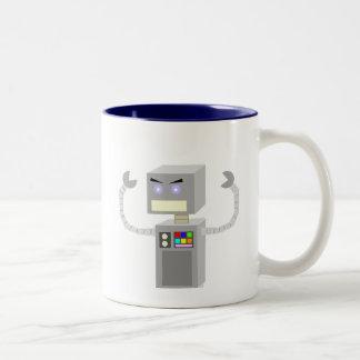 Mad Robot Two-Tone Coffee Mug