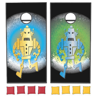 Mad Robots Colorful Planets Bean Bag Toss Cornhole Set