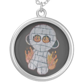 MAD ROBOT'S FIRE ROUND PENDANT NECKLACE