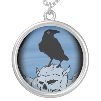 mad robot's nevermore round pendant necklace