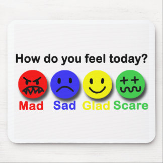Mad,Sad,Glad & Scare Mouse Pad
