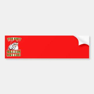 Mad Santa Bumper Sticker