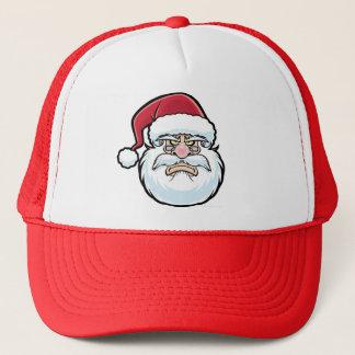 Mad Santa Head Trucker Hat