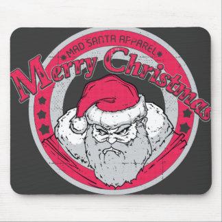 Mad santa mouse pad