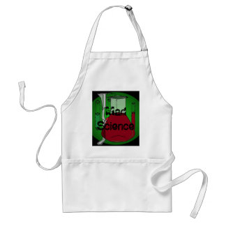 Mad Science Beakers Test Tubes Solutions Adult Apron