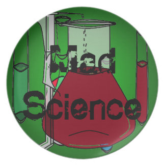 Mad Science Beakers Test Tubes Solutions Dinner Plate