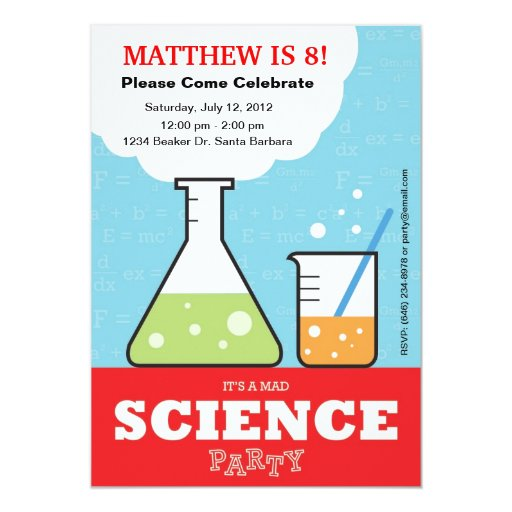 Science Invitations Birthday Party for good invitations sample