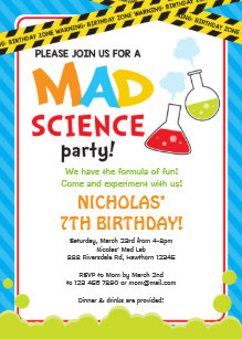 Mad Scientist Invitations Zazzle